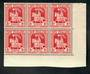 NEW ZEALAND 1934 Health. Corner block of 6. Nice item. - 21549 - UHM