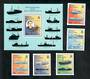 TRISTAN DA CUNHA 1998 50th Anniversary of the First Lobster Survey. Set of 5 and miniature sheet. - 21558 - UHM