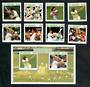 ST VINCENT 1988 Cricketers. Set of 8 and miniature sheet. - 21576 - UHM