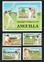 ANGUILLA 1987 Cricket World Cup. Set of 4 and miniature sheet. - 21578 - UHM