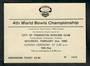 EUPHERMIA Bowls 1980 Admission Ticket to the 4th World Bowls Championship. - 21581 -