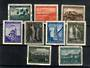 GERMANN OCCUPATION of SLOVENIA 1945 Definitives. 9 values of the set. One affected by toning. - 21632 - UHM