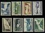 ICELAND 1956 Power Plants and Waterfalls. Set of 8. - 21654 - UHM