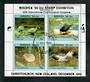 NEW ZEALAND 1990 Birdpex '90 International Stamp Exhibition miniature sheet 5-8. - 21676 - VFU