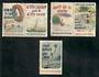 NEW ZEALAND 1955 Stop Drowning Five values including two pairs. - 21677 - Cinderellas