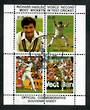 NEW ZEALAND 1988 World Record Test Wickets. Miniature sheet. - 21691 - VFU