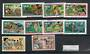 NIUE 1977 Definitives Surcharged. Short set of 10. - 21702 - UHM