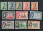 FIJI 1959 Elizabeth 2nd Definitives. Set of 13 less the 8d and the 4/-. - 21720 - Mint