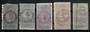 NEW ZEALAND 1867 Fiscal 1d. Five copies in various shades. - 21802 - Used
