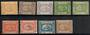 EGYPT 1867 Definitives. Set of 9. Includes both shades of the 10pa...two of the shades of the 20pa.....and both shades of the 1p
