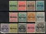 RHODESIA 1909 Definitives Overprints. Set of 13 to the GBp1 excluding the 5/- - 23119 - Mint