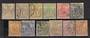 LUXEMBOURG 1882 Definitives. Simplified set of 12. Mostly Perf 12½. - 23728 - FU