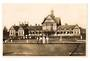 Real Photograph by Frank Duncan of Bath House Rotorua including Bowling green. - 246073 - Postcard