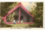 Coloured  Real Photograph by N S Seaward of Maori Meetinghouse Rotorua. - 246115 - Postcard