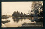 Real Photograph by Radcliffe of Lake in the Park Masterton. One bad corner. - 247861 - Postcard