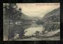 Postcard by Muir and Moodie of Queenstown Lake Wakatipu from the park in the evening. - 249435 - Postcard