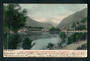 Early Undivided Coloured postcard by Muir and Moodie of Queenstown Lake Wakatipu from the park in the evening. - 249436 - Postca