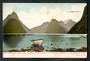 Coloured postcard by Muir and Moodie of Milford Sound. - 249805 - Postcard