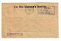 NEW ZEALAND 1952 Window envelope On His Majesty's Service. 2d Paid Te Aro Permit No 55. From Army Dept 27/3/52. - 30014 - War