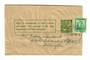 NEW ZEALAND 1935 ½d Pictorial Newspaper wrapper with ½d added postage. Used 1938. - 30020 - PostalHist