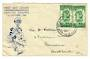 NEW ZEALAND 1942 Health 1d Green in pair on illustrated first day cover. - 30063 - Postal History