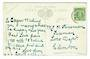 NEW ZEALAND Postcard addressed to Mr N Kinsman Fireman  Loco Dept Clinton - 30069 - PostalHist