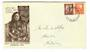 NEW ZEALAND 1935 Pictorial 1½d and 2d on first day cover. - 30070 - FDC