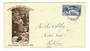 NEW ZEALAND 1935 Pictorial 5d on first day cover. - 30075 - FDC