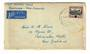 COOK ISLANDS 1944 First Airmail Cover Rarotonga to New Zealand - 30112 - PostalHist