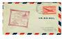 USA 1947 First Flight Salt Lake City Utah to Billings Montana.