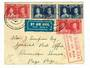 NEW ZEALAND 1937 to USA First Air Mail December 1937. Cover addressed from New Zealand to Pago Pago 28/12/37. Backstamp Pago Pag