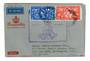 GREAT BRITAIN 1953 Coronation flight cover to New Zealand. - 30124 - PostalHist