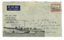 NEW ZEALAND 1940 New Zealand Australia England. Through Air Mail Service. Inaugural Flight. Bearing 5d Centennial. - 30173 - Pos