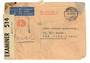 SWITZERLAND 1941 Letter with commercial frank to New York. Via clipper. Reseal Label