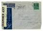 SWITZERLAND 1941 Letter to USA. Reseal Label