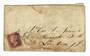 GREAT BRITAIN 1848 1d Red on cover from Yarmouth. Stain. - 30315 - PostalHist