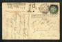 GREAT BRITAIN 1908 Postcard mailed within England. Interesting cachets Liable to Letter Rate DE. Exceeds Limits of Size H4. 1d.