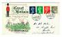 GREAT BRITAIN 1968 Elizabeth 2nd Machins issued 1/7/1968. Set of 4 on first day cover. - 30320 - FDC