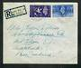 GREAT BRITAIN 1946 Victory. Set of 4 on first day cover. Registered London W.C.12 to Mt Eden Auckland. Backstamps SOUTHAMPTON RO