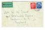 GERMANY 1935 Cover to Great Britain. Label MIT LUFTPOST. Postmark MUNCHEN 3/11/35. Torn on the reverse. Toned around the stamps.