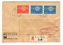 SWITZERLAND 1960 Europa. Set of 2 on registered cover. Interesting cachet PASSED FREE US CUSTOMS AT NEW YORK. - 30439 - PostalHi