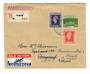 NETHERLANDS 1946 Airmail letter from Tilburg Holland to Burgdorf Switzerland then redirected to Basel. Slight folding at top. Ba
