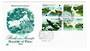 PALAU 1984 Birds. Block of 4 on first day cover. - 30513 - FDC