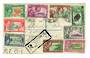 PITCAIRN ISLANDS 1940 Geo 6th Definitives. Set of 10 on cover registered mail to Tirau NZ. All ten stamps ( the 6d on the revers