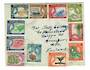 PITCAIRN ISLANDS 1957 Definitives. Set of 11 as initially issued on first day cover. . - 30536 - PostalHist