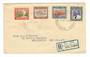 SAMOA 1939 25th Anniversary of New Zealand Control. Set of 4 on first day cover. Registered. - 30549 - PostalHist