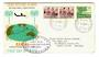 COCOS (KEELING) ISLANDS 1963 Definitives 1/- and 3d on first day cover. - 30551 - FDC