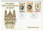 PITCAIRN ISLANDS 1981 Royal Wedding. Set of 3 on first day cover. - 30552 - FDC