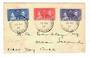 GILBERT & ELLICE ISLANDS 1937 Coronation. Set of 3 on first day cover. Addressed to Ocean Island. - 30562 - PostalHist