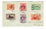 SAMOA 1920 Peace. Set of 6 on cover. - 30564 - PostalHist